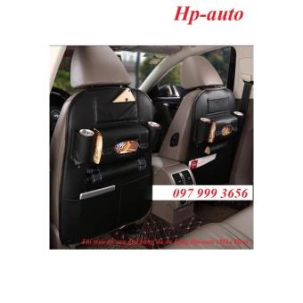 Combo 2 Túi treo đồ sau ghế bằng da đa năng Hp-auto (Màu Đen)