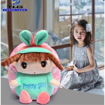 Balo búp bê đáng yêu cho bé gái Thành long TL8180 (Hồng)