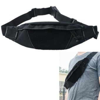 Adjustable Multifunctional Molle Military Men Waist Bag Running Jogging Biking Outdoor Sports Waist Pack for Cell Phone Key Card Pouch Black