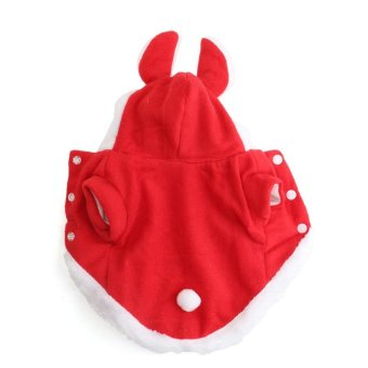 Pet Dog Hoodie Costume Clothes Jacket Coat Puppy Cat Costume Apparel Winter Warm Red - intl