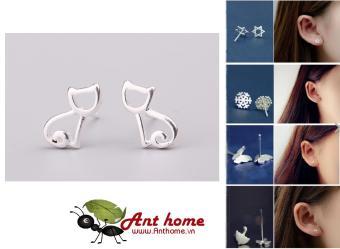 Bông tai (Khuyên tai) nam nữ hình con mèo Simple Style phong cách Châu Âu (BT62)
