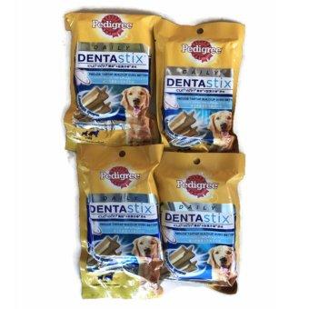 Bộ 4 Gói Bánh Xương Chăm Sóc Răng Dành Cho Chó Lớn Pedigree DentaStix 4x86g (Mỹ)