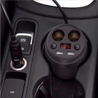 Bộ chia tẩu sạc xe hơi cao cấp hàng hiệuPingle 2 nguồn, 2 USB