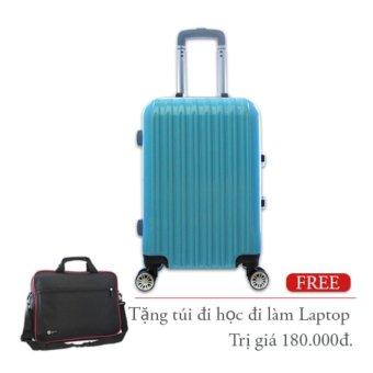 Vali kéo du lịch nhựa khung nhôm loại trung 20Kg màu xanh TA275
