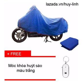 Combo bạt phủ xe máy ( Xanh ) + free móc chìa khóa ( Trắng )