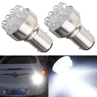 Moonar 2pcs 1157 BAY15D Globes 12 White LED Brake Turn Stop Tail Light Lamp Light