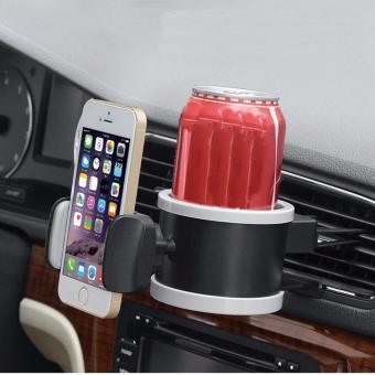 Giá đỡ điện thoại và cốc nước đa năng chuyên dụng cho xe ô tô HQ098 (Đen)