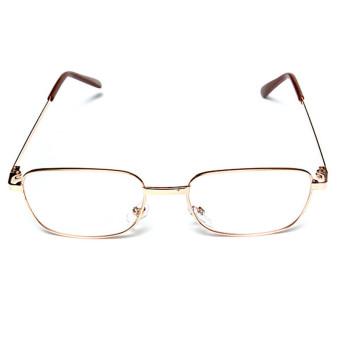Unisex Reading Glasses Golden Metal Frame + Box Cloth +2.0 - Intl
