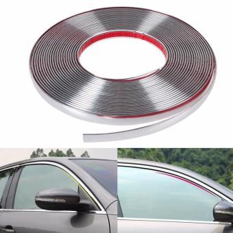 Nẹp viền kính xe hơi Bạc (khổ rộng 15mm)