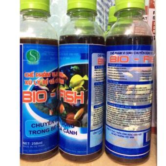 Bộ 2 Chế phẩm vi sinh BiOTECH BIO-FISH làm sạch nước bể cá cảnh, chống rêu mốc và nuôi cá không phải thay nước trong thời gian dài