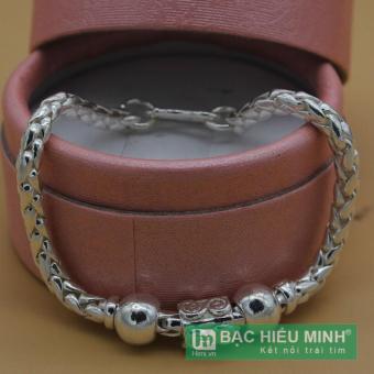 Lắc tay lắc chân trẻ em Bạc Hiểu Minh bằng bạc ta lte038