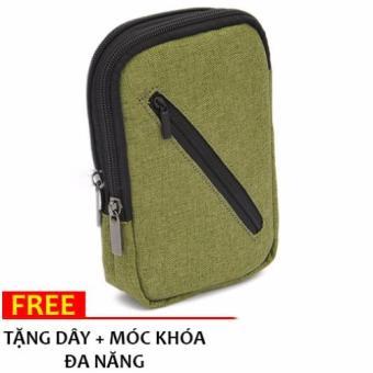 Túi bóp nam đựng điện thoại đeo lưng quần + Tặng móc + Dây đeo H163