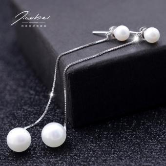 Bông tai mạ bạc ngọc trai long lanh xinh xắn thời trang SPE-EH056 (Bạc)
