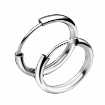Fancyqube 2016 fashion Star With Personality Circle Earrings, Both Men And Women Can Wear Earrings Jewelry Wholesale Gold Silver Earrings Silver-16MM - intl