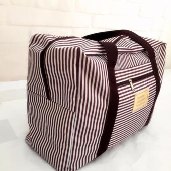 Túi vali kéo du lịch tiện dụng (sọc nâu)