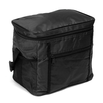 Travel Portable Waterproof Thermal Cooler Insulated Tote Picnic Lunch Ice Bag Black - intl