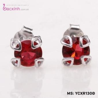 Bông tai nữ trang sức bạc S925 Italia Bạc Xinh YCXR130