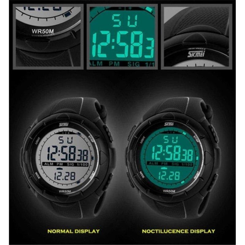 Nơi bán Jo.In Men 50M Waterproof Digital LCD Alarm Date Mens Sport Watch(Green) - intl