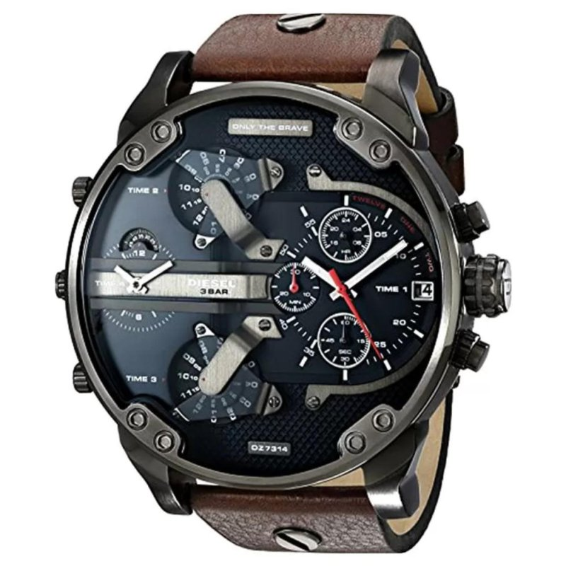 Nơi bán JOOX 2017 New Year DZ7314 The Daddies Series Stainless Steel Watch With Brown Leather Band - intl