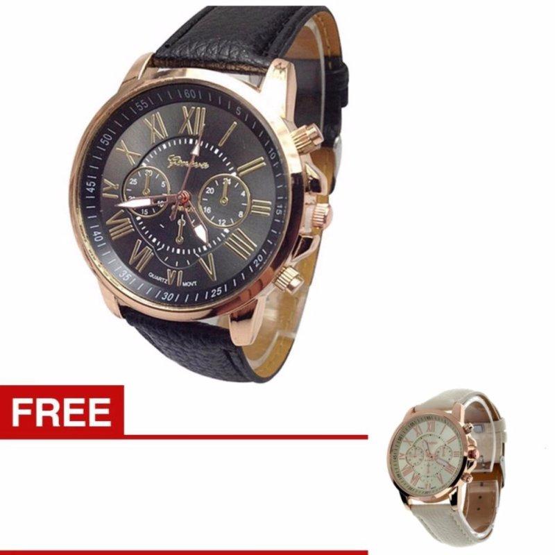 Nơi bán JOOX Women Geneva Roman Numerals Faux Leather Analog Quartz Watch(Buy one get one free one ) - intl