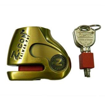 Khóa đĩa xe máy - Luto Shop Z-Con DX6-1 (Vàng đồng)