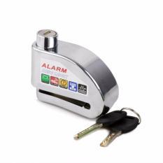 Khóa phanh đĩa  xe máy chống trộm  có báo động 2017 KaiOy ( Bạc)