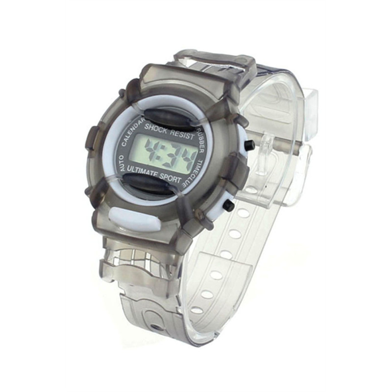 Kids Waterproof Digital Sports Wrist Watch - Grey bán chạy