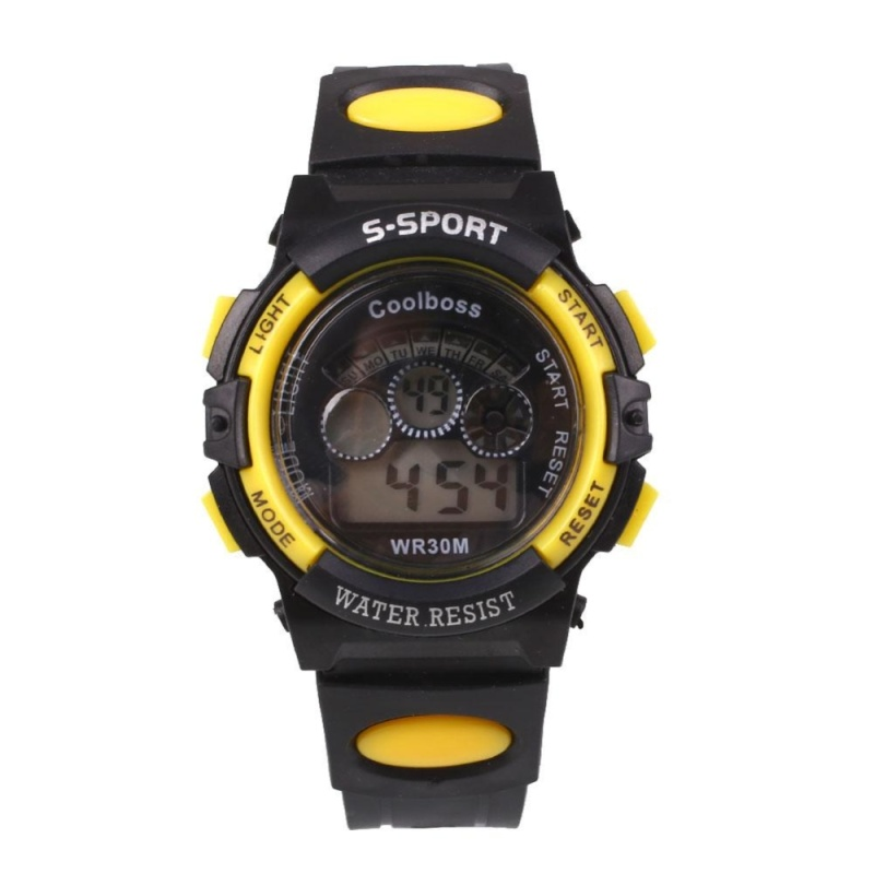 Kids Waterproof Rubber Digital LED Sports Calendar Wrist Watch Alarm Gift - intl bán chạy