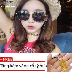 Nơi Bán Kính mát cá tính Unisex Sino S02-0044+Tặng kèm vòng cổ tỳ hưu vàng  Hoàng Kim Digital