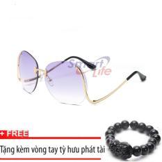 Bảng Giá Kính mát nữ cá tính Sino S2017 đen+Tặng kèm vòng tay thạch anh tỳ hưu đen  Smart Life