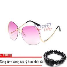 Giá Sốc Kính mát nữ cá tính Sino S2017 tím+Tặng kèm vòng tay thạch anh tỳ hưu đen  Smart Life