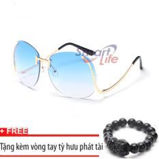 Giá Niêm Yết Kính mát nữ cá tính Sino S2017 xanh+Tặng kèm vòng tay thạch anh tỳ hưu đen  Smart Life
