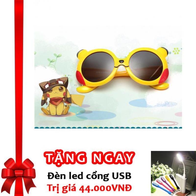 Mua Kính mát thời trang Hàn Quốc chống tia UV bảo vệ mắt bé F175 (Vàng) + Tặng đèn LED cổng USB