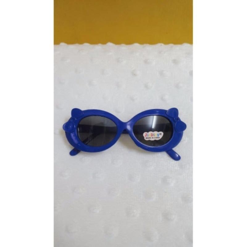 Mua Kính mát trẻ em chống nắng đính nơ (Xanh biển)  + Tặng 1 đôi găng tay lót nỉ siêu cute + Tặng 1 đôi dép nỉ đi trong nhà