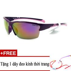 Khuyến Mãi Kính mát trẻ em trắng EXFASH EF4747 525 (Tím) + Tặng kèm 1 dây đeo kính trẻ em  Sunny (Tp.HCM)