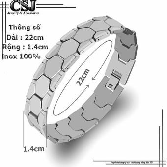 Lắc tay inox nam kiểu da rắn cực ngầu Độc -Đẹp-Rẻ mẫu LN073