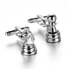 Giá MagiDeal Vintage Silver Chess Shape Men's Shirt Cufflinks Cuff Links Jewelry Gifts – intl   MagiDeal