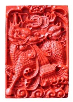 Mặt Đá Chu Sa Rồng Hộ Mạng Alichienchien
