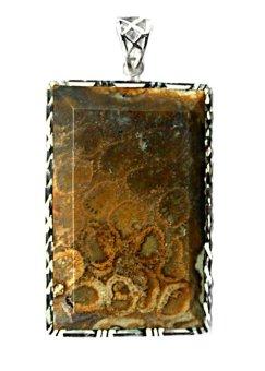 Mặt dây chuyền đá san hô vân xoắn ốc Hộ Mệnh Alichienchien