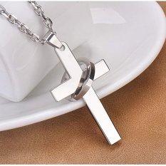 Giá Niêm Yết Mặt dây chuyền thánh giá MDC136 loại nhỏ dài 3,7 cm (màu bạc)  Muasamhot