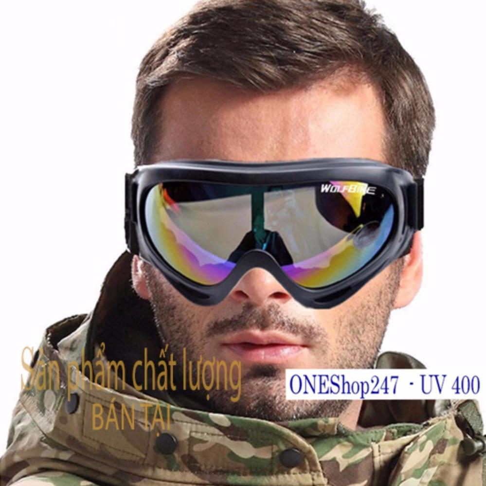Mắt kính CHỐNG BỤI, CHỐNG TIA cực tím (dây Đen, kính tráng bạc 7 màu )