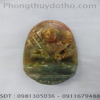 Mặt phật Hư không tạng Bồ tát đá Canxedon dài 5,1 x 3,3 cm số 04
