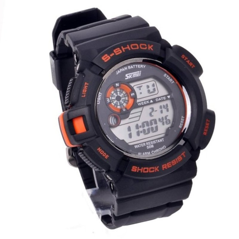 Nơi bán Mens Multi Function Sports Wrist Watch (Orange)(Not Specified)(OVERSEAS) - intl