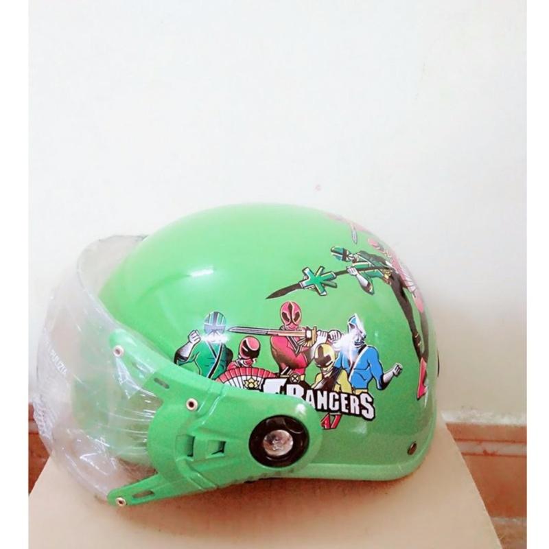 Mũ Bảo Hiểm PGK Trẻ Em - Power Ranger Green