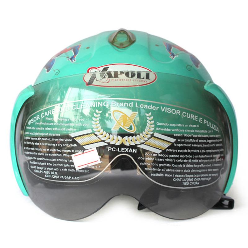 Mũ bảo hiểm trẻ em kính Napoli 108s (Xanh da trời siêu nhân)