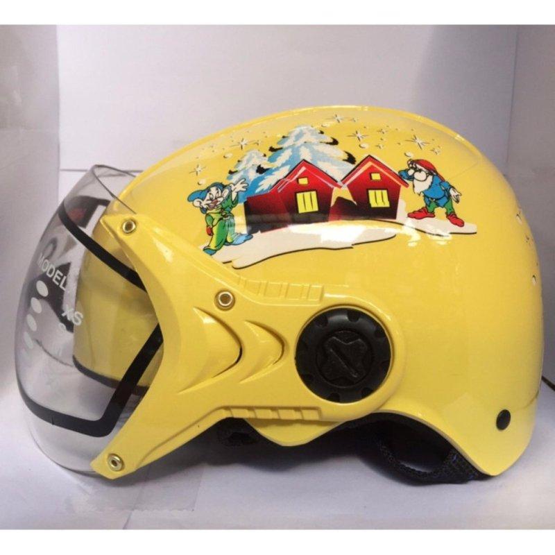 Mũ bảo hiểm trẻ em tem bạch tuyết (Vàng)