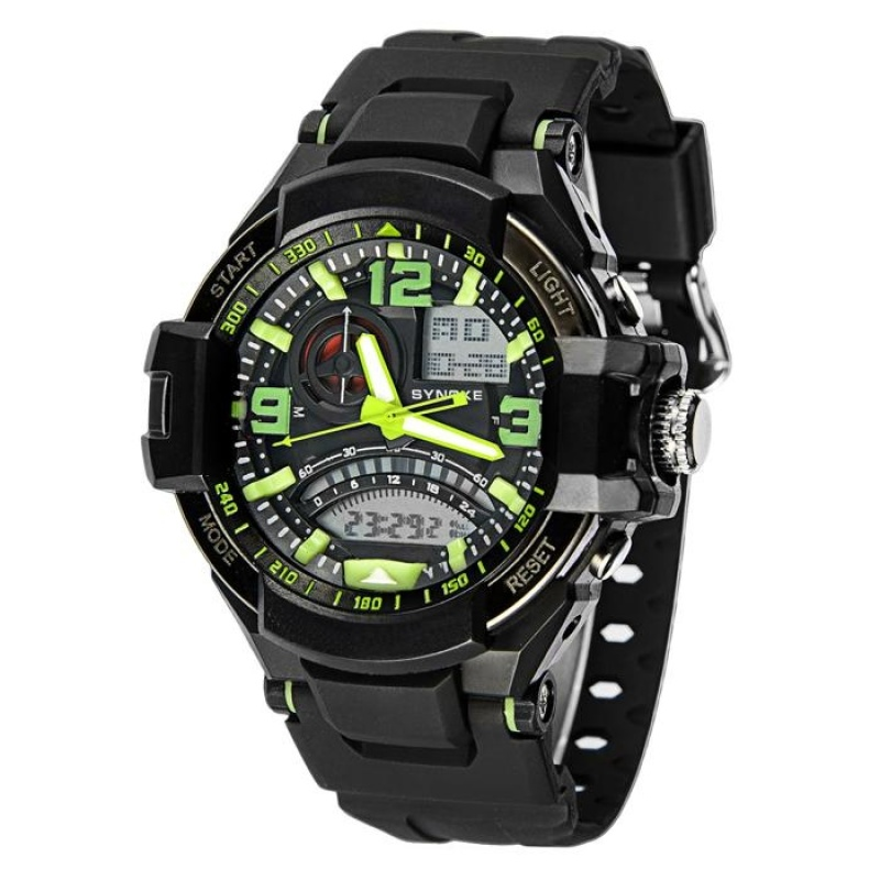 Nơi bán Multi Function Military Digital LED Quartz Sports Watch Waterproof GN - intl