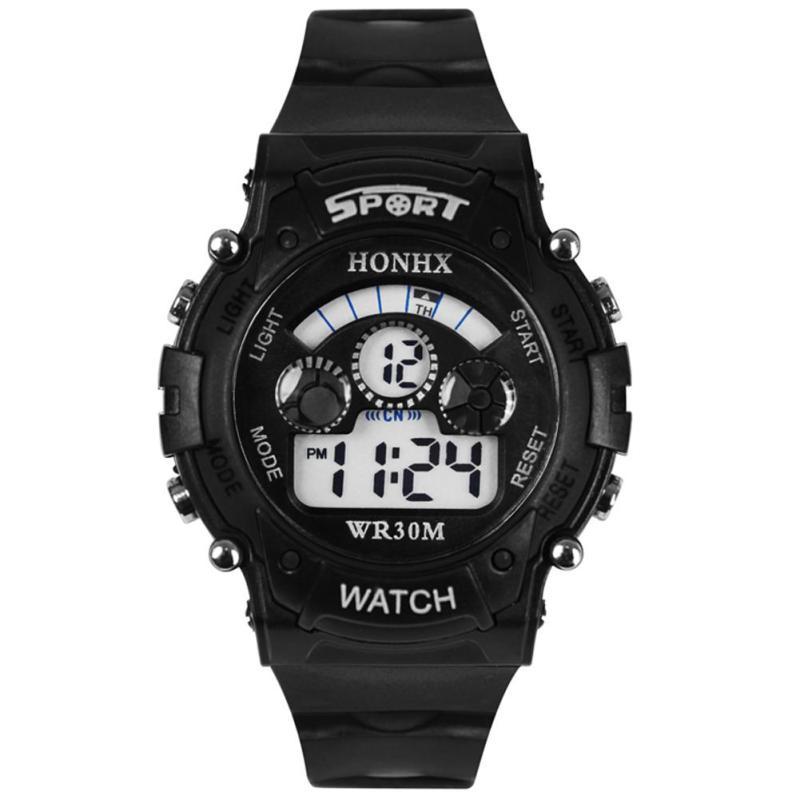 Multifunction Digital LED Quartz Alarm Date Sport Waterproof Watch (Black) - intl bán chạy