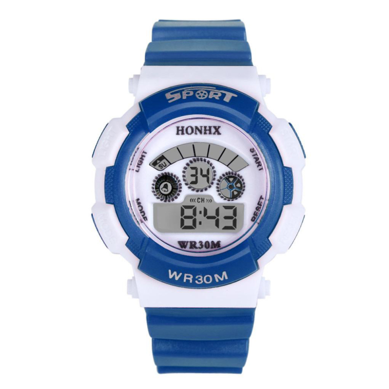 Multifunction Waterproof Sport Electronic Digital Wrist Watch (Dark Blue) - intl bán chạy