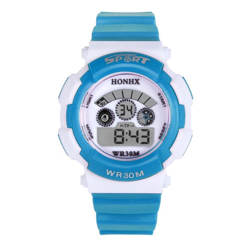 Multifunction Waterproof Sport Electronic Digital Wrist Watch (Light Blue) - intl bán chạy